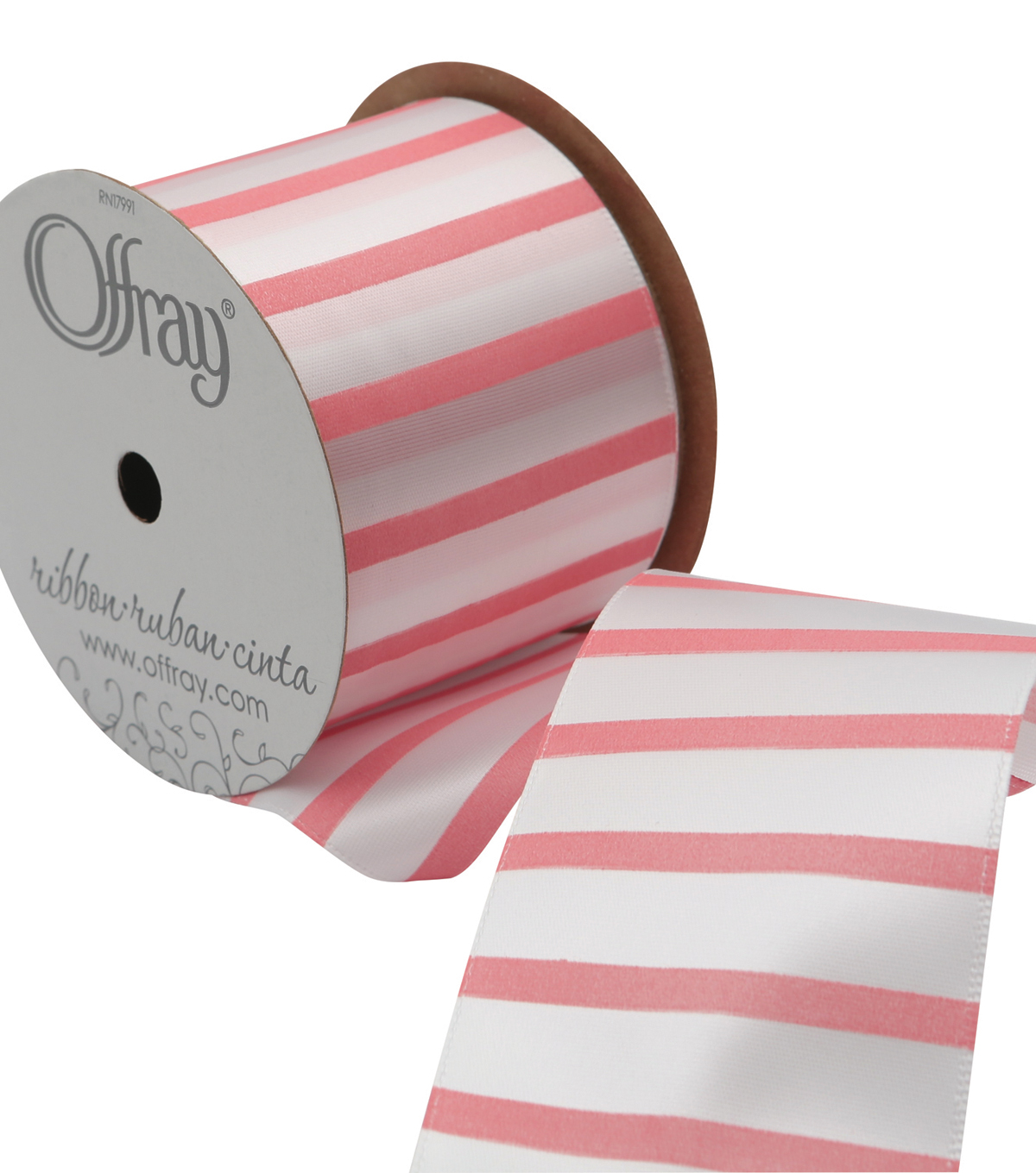 2 And One Qtr Garden 9 Ft Stripe Ribbon