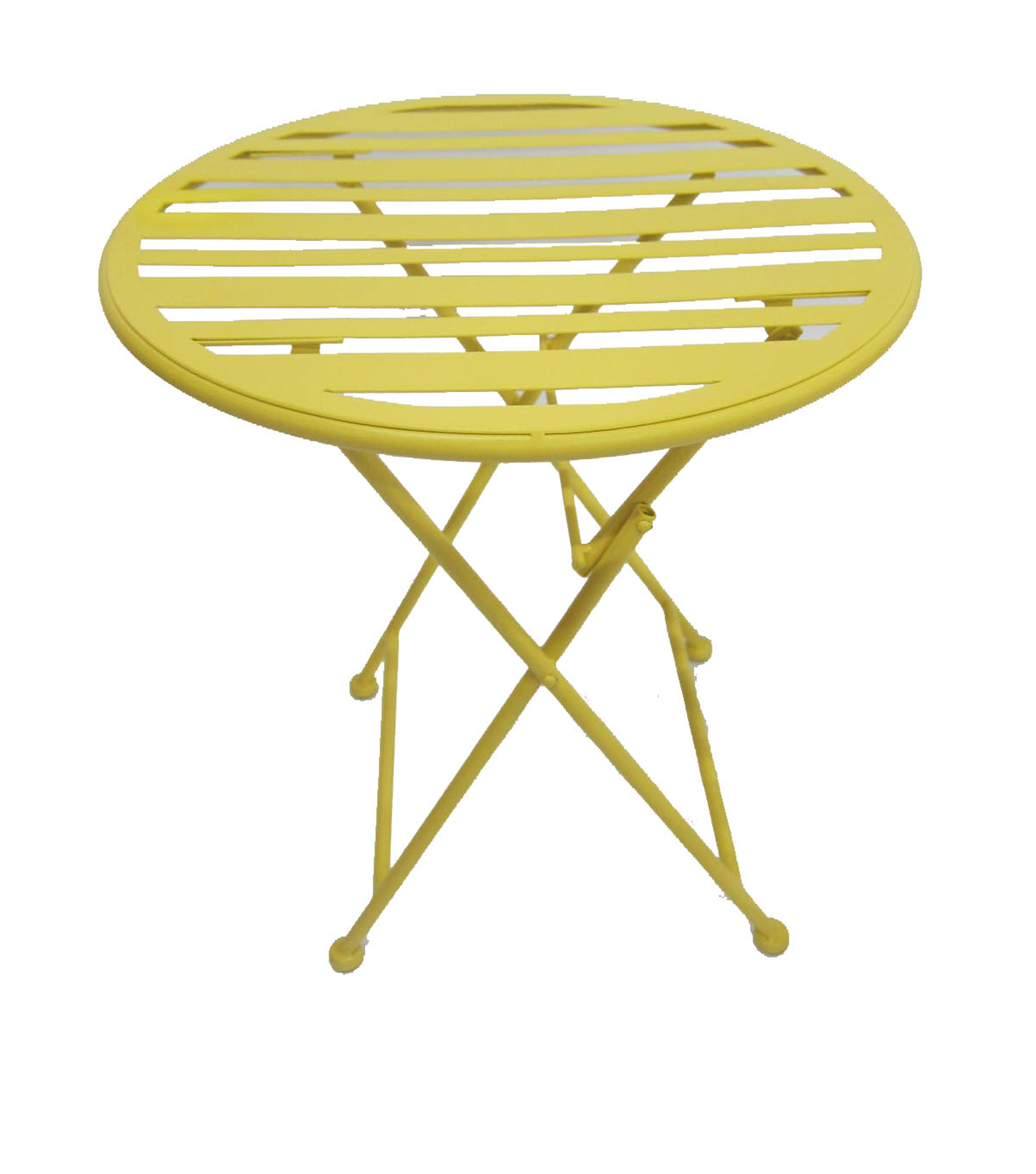 Summer Sol Metal Collapsible Table-Yellow