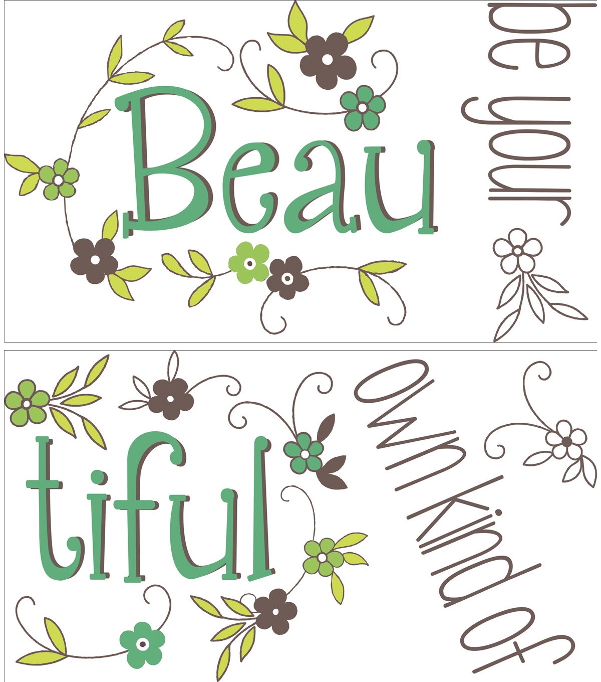 "Wall Pops Be Your Own Beautiful Wall Quote Decals, 22"" x 15.75"""