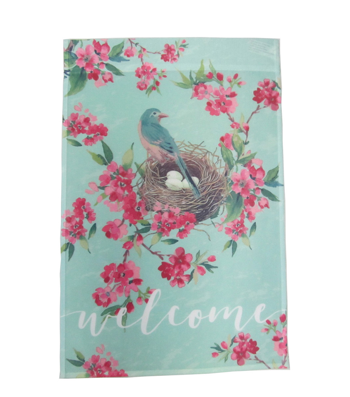 Hello Spring Gardening 12\u0027\u0027x18\u0027\u0027 Fabric Flag-Welcome & Hummingbird