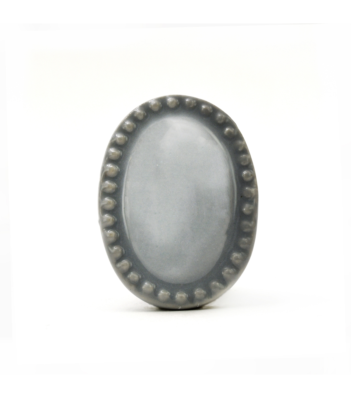 Dritz Home Ceramic Vintage Oval Knob-Dove Grey
