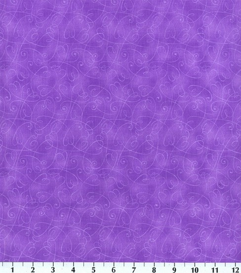 "Keepsake Calico™ Cotton Fabric 44""-Purple Essentials Swirl"