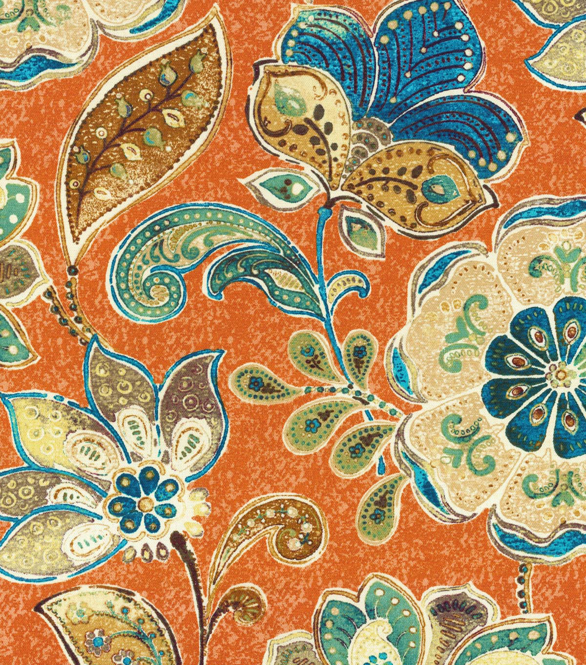 Home Decor 8\u0022x8\u0022 Swatch Fabric-IMAN Home Javanese Garden Henna