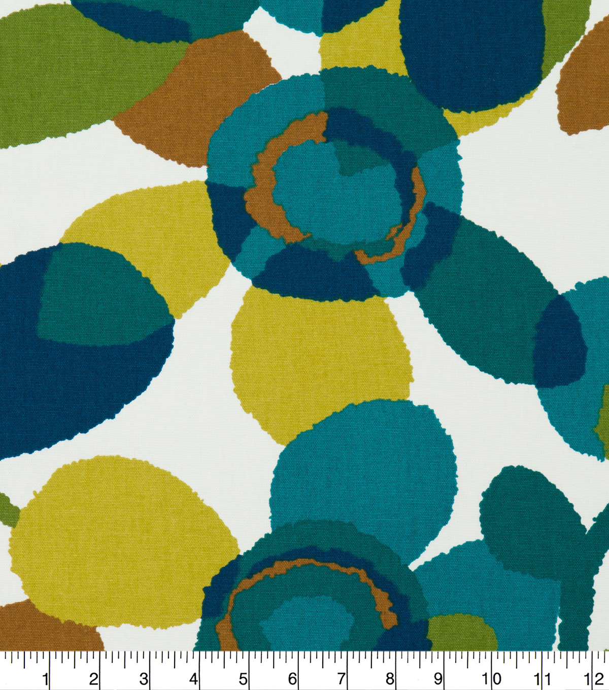 Robert Allen @ Home Print Fabric 55\u0022-Abstract Flora Turquoise