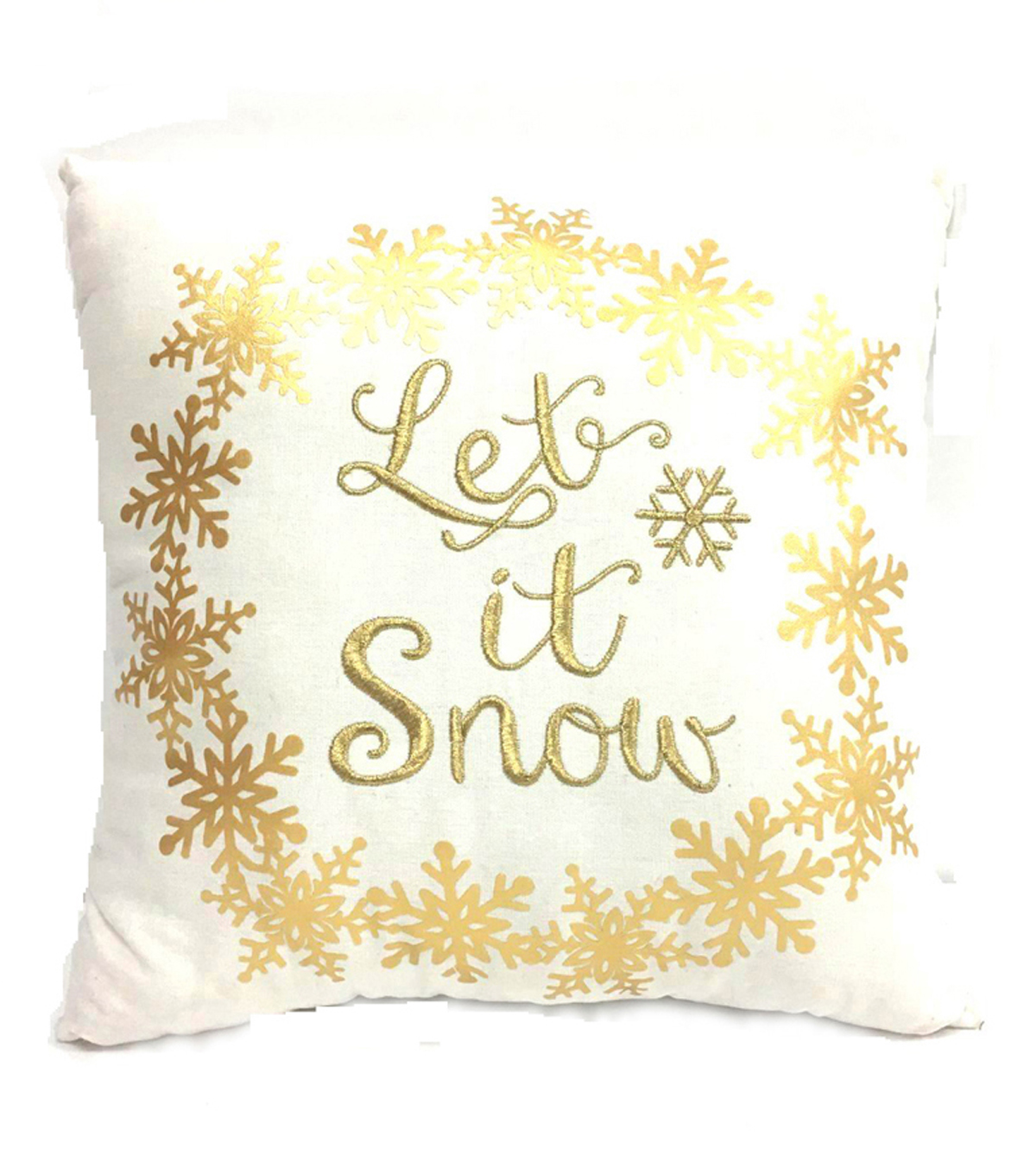 Maker\u0027s Holiday Pillow-Let It Snow