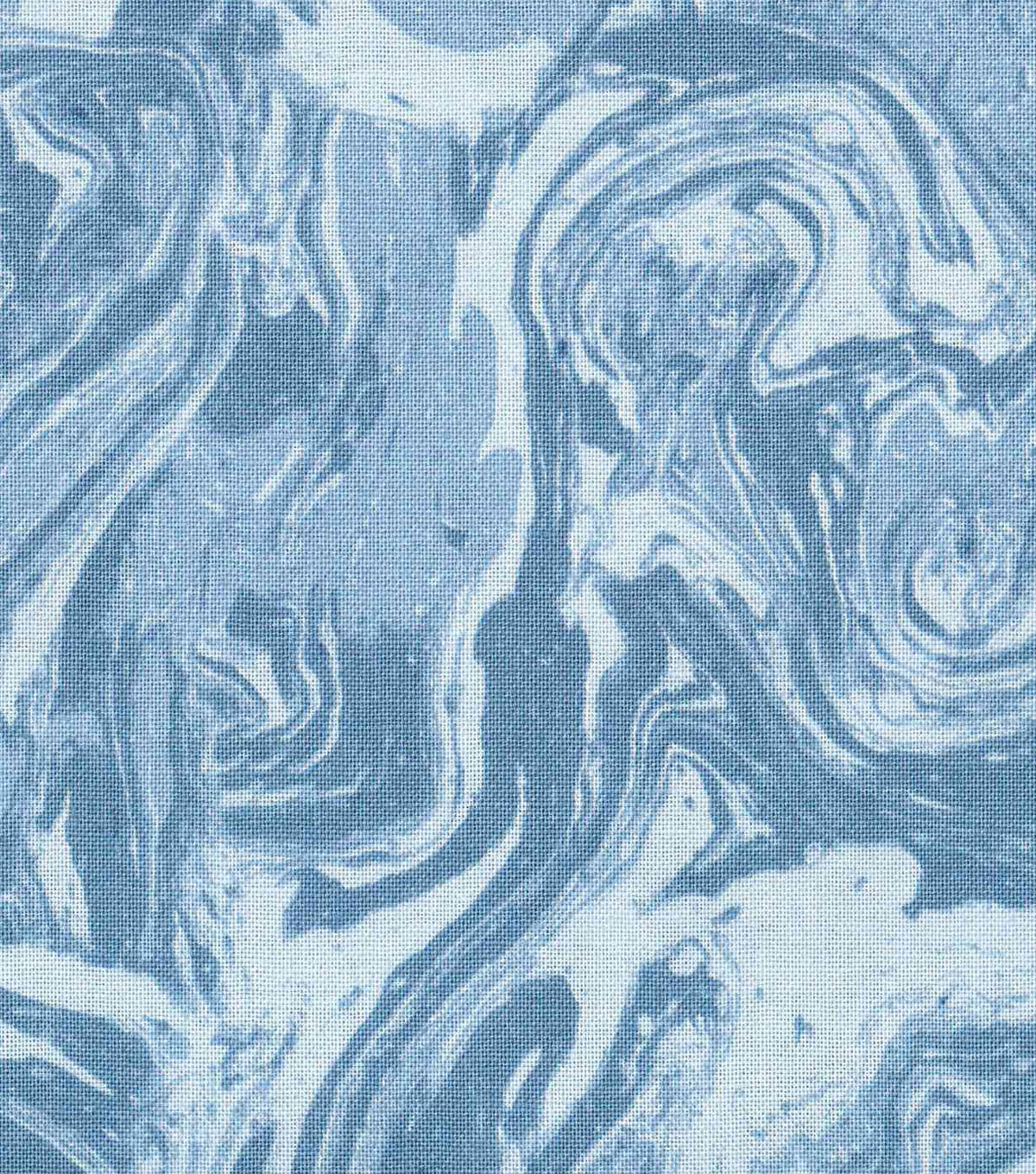 "Keepsake Calico™ Cotton Fabric 43""-Lucy's Dark Blue Watercolor"