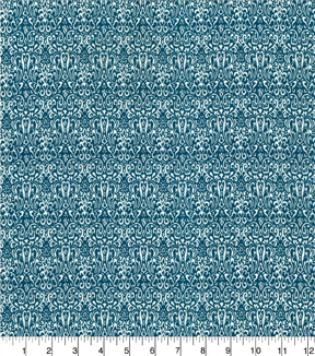 "Quilter's Showcase Cotton Quilt Fabric 44""-Damask Teal"