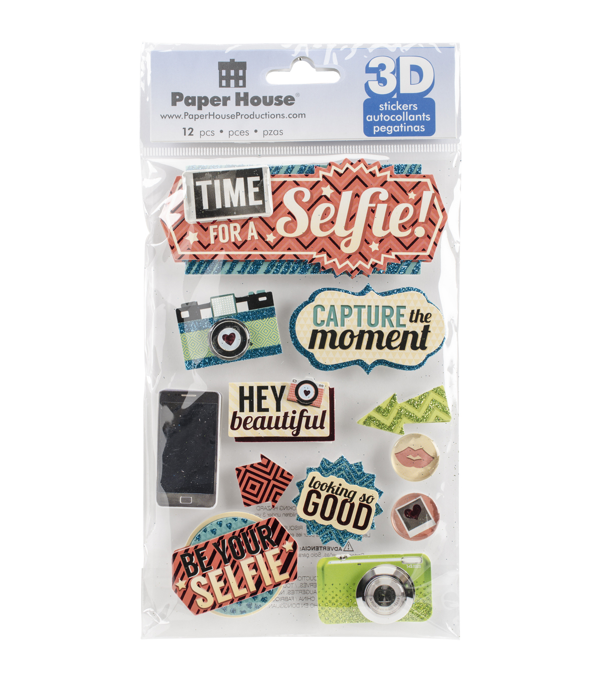 Paper House® 3D Stickers-Time For A Selfie