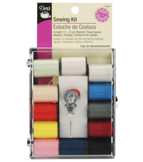 Dritz® Sewing Kit With 12 Colors Of Thread