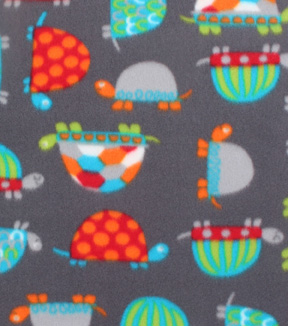 Blizzard Fleece Fabric 59\u0022-Bright Patterned Turtles