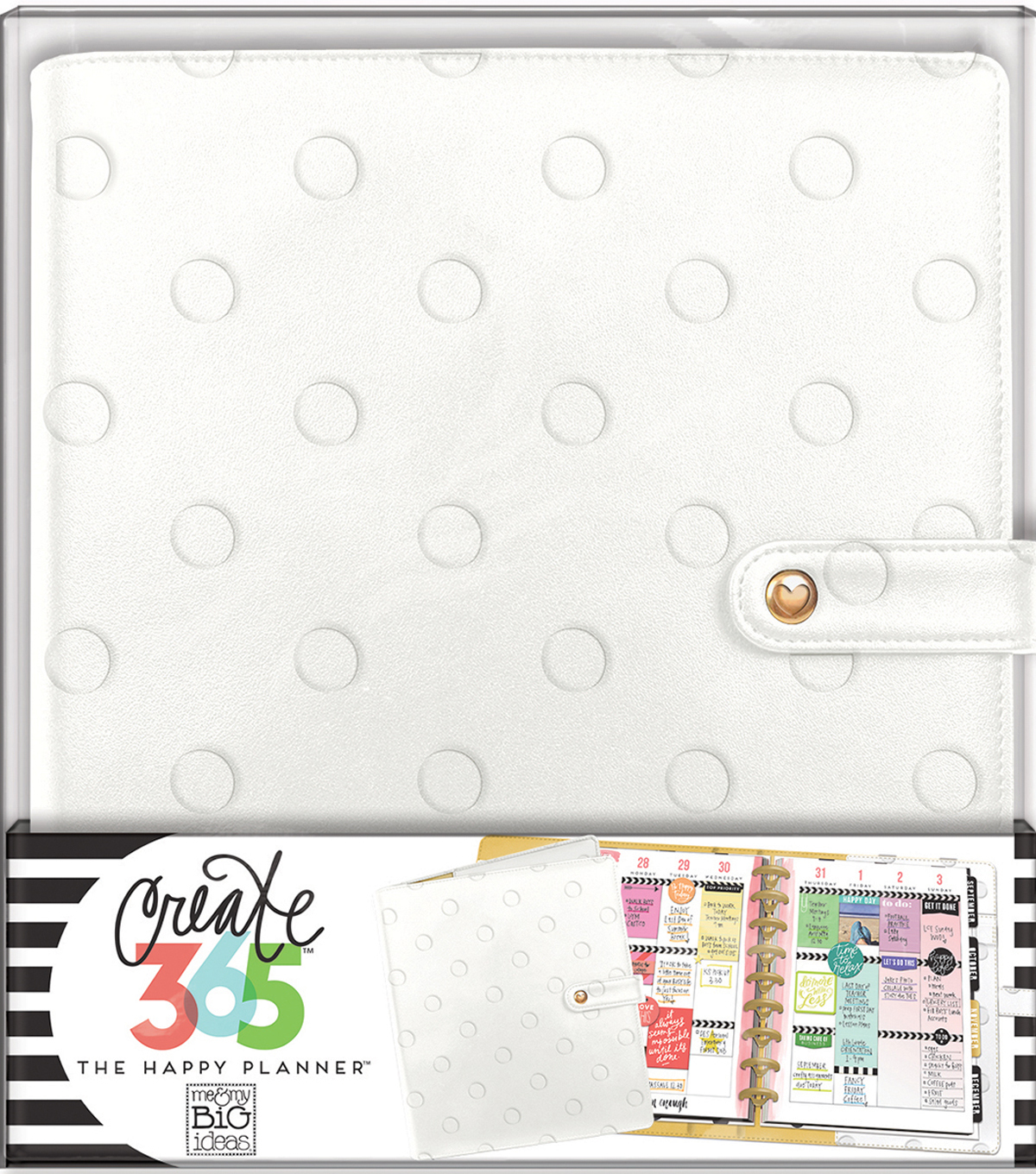 Create 365 Classic Deluxe Cover Planner-Snow Dots