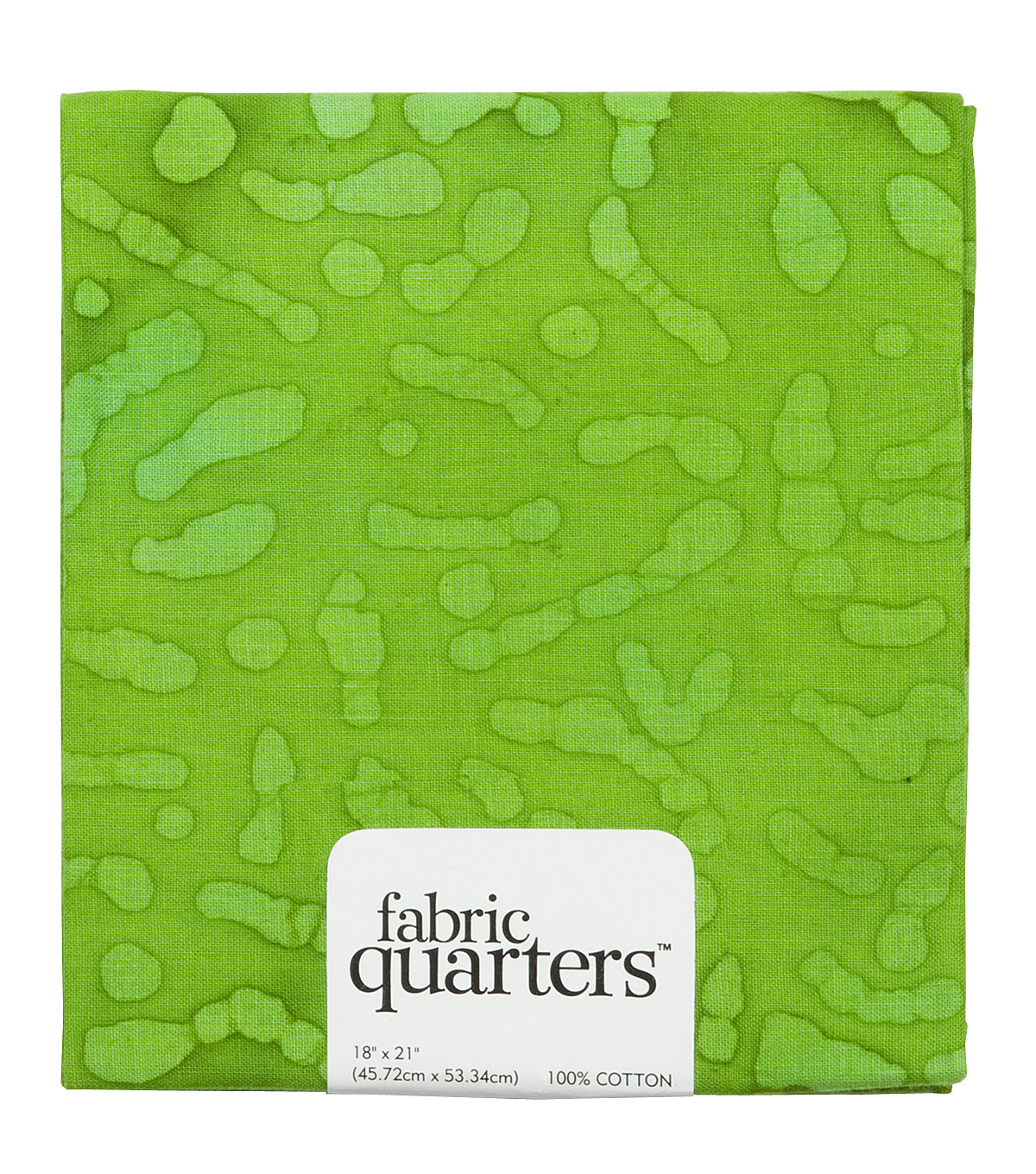 Fabric-Quarters Assorted Batik Fabric-Green