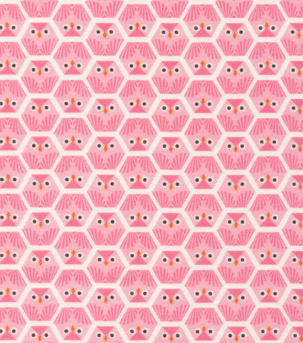 Cloud 9 Premium Cotton Fabric 44\u0022-Dolittles Owl Pink
