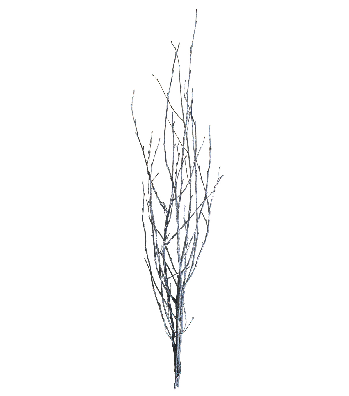 Blooming Holiday Birch Branch With Glitter-Silver