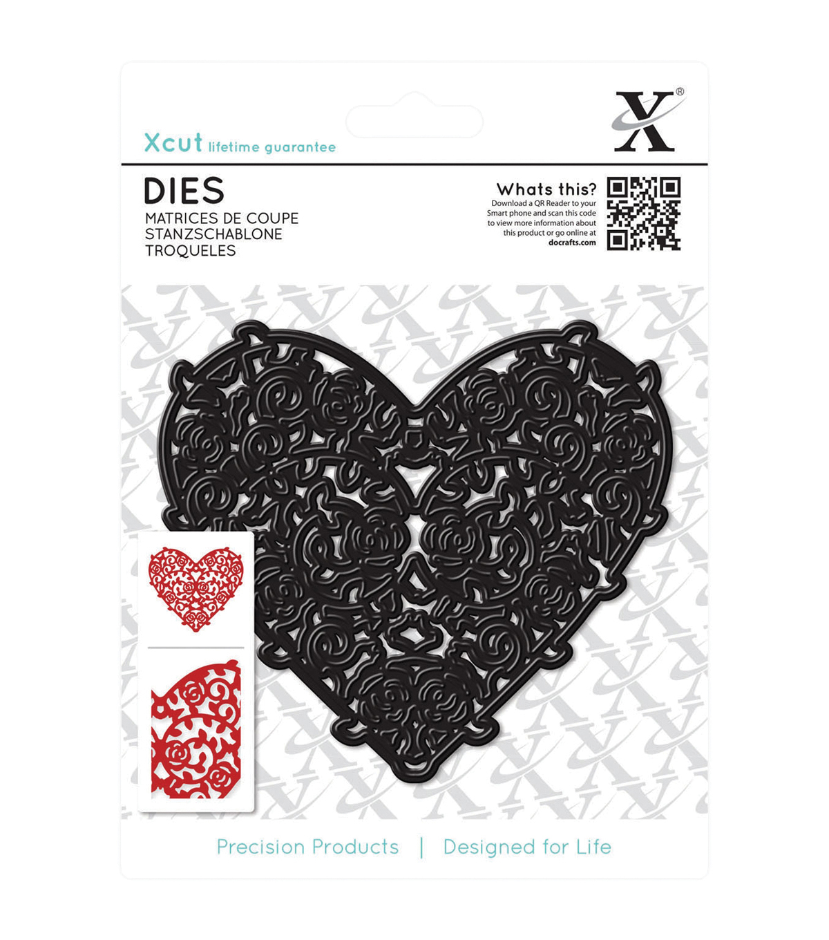 Xcut Floral Filigree Heart Die