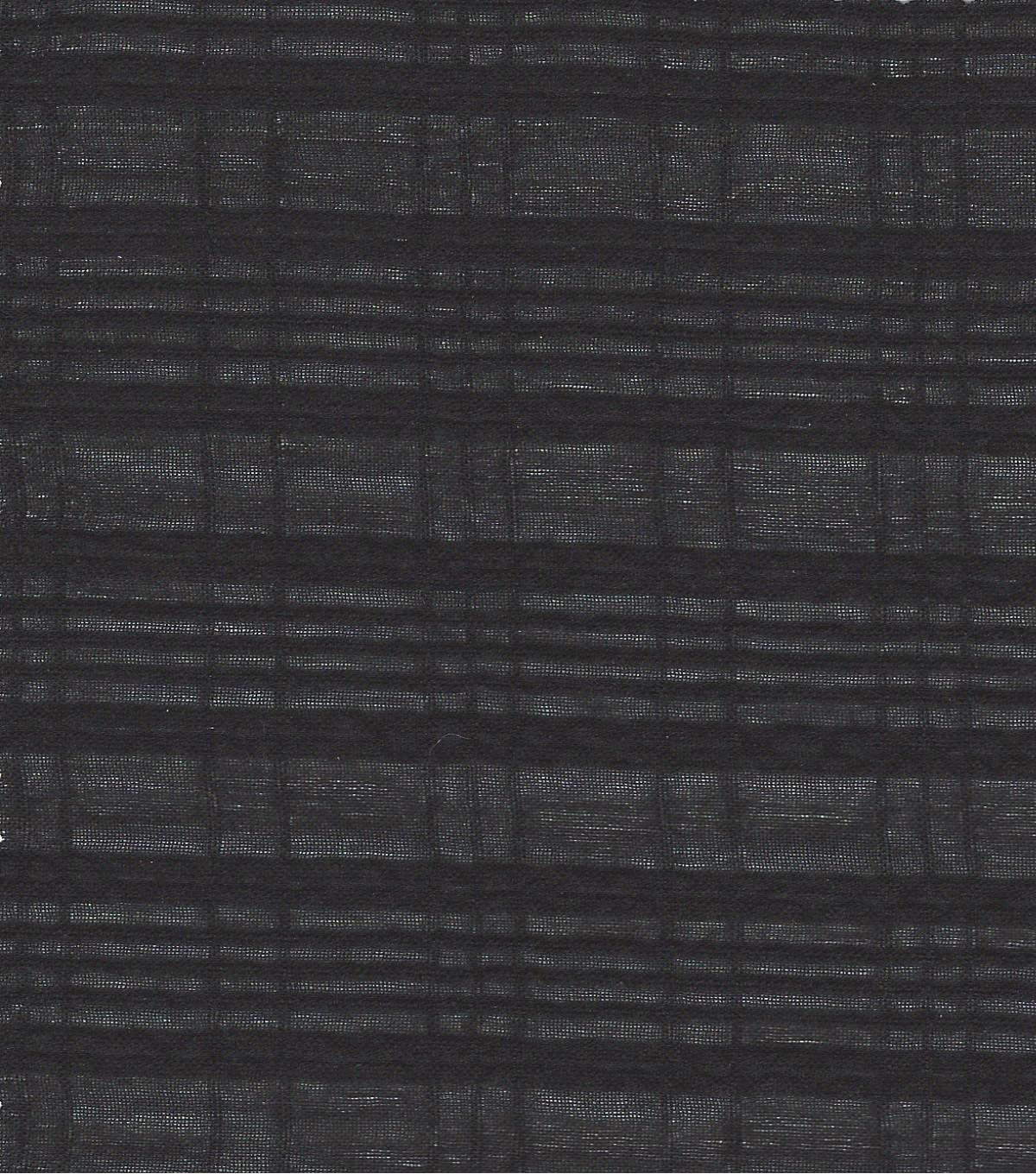 Cotton Solid Dobby Voile Fabric-Black