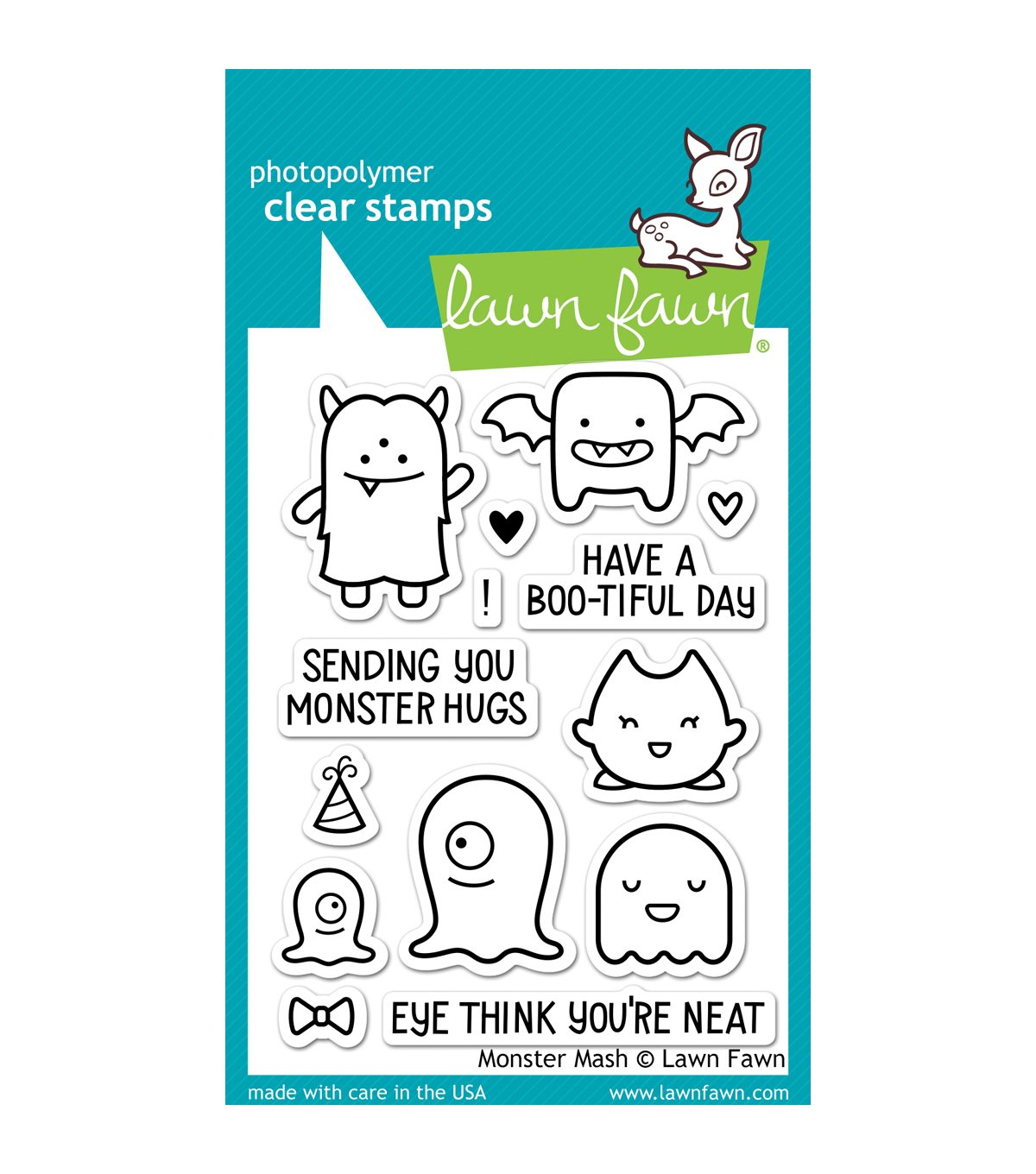 "Lawn Fawn Clear Stamps 3""X4""-Monster Mash"