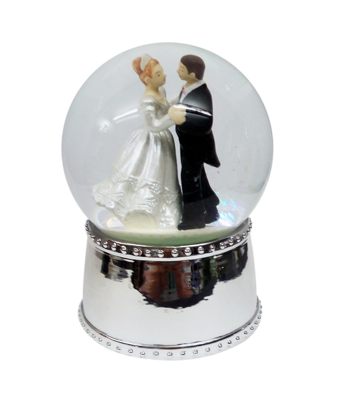 Sparkling Woodland 100Mm Resin Wedding Water Globe