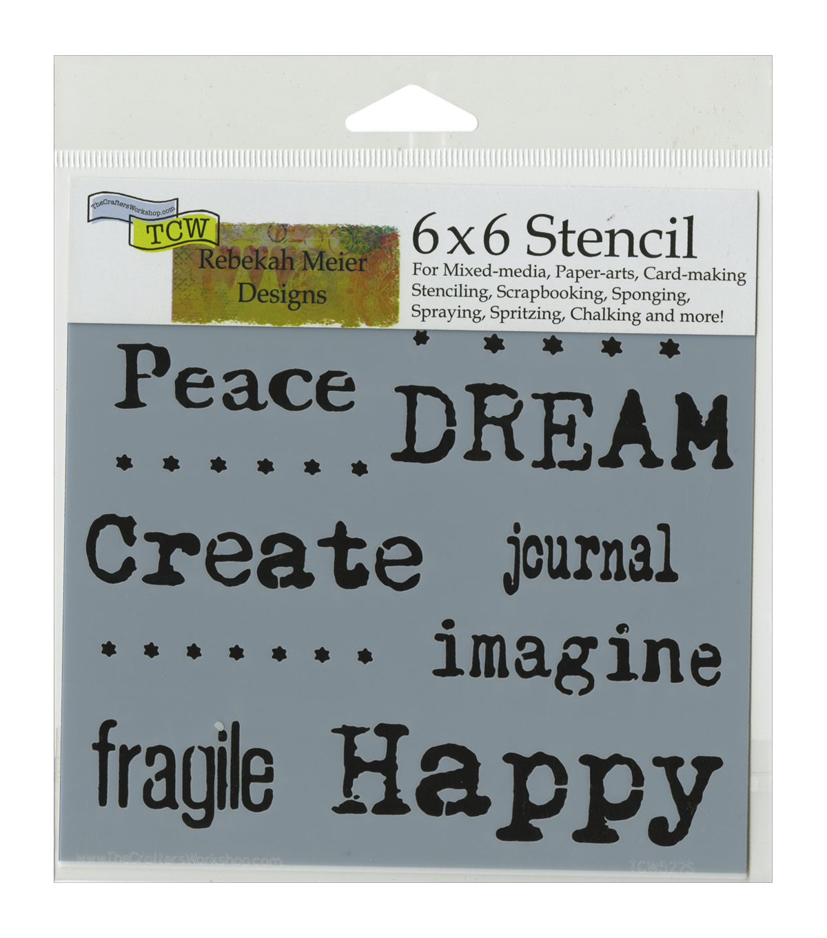 Crafter's Workshop Word Association Template 6''x6''