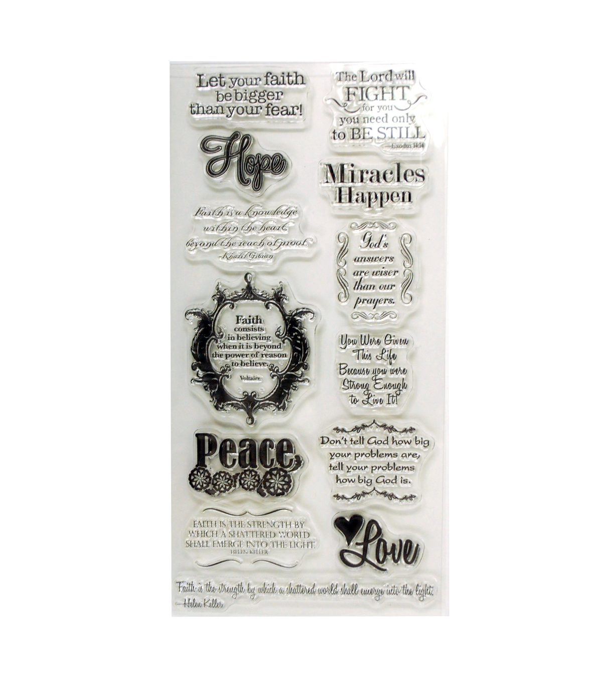 KI Memories Faith Greetings Clear Stamp Set