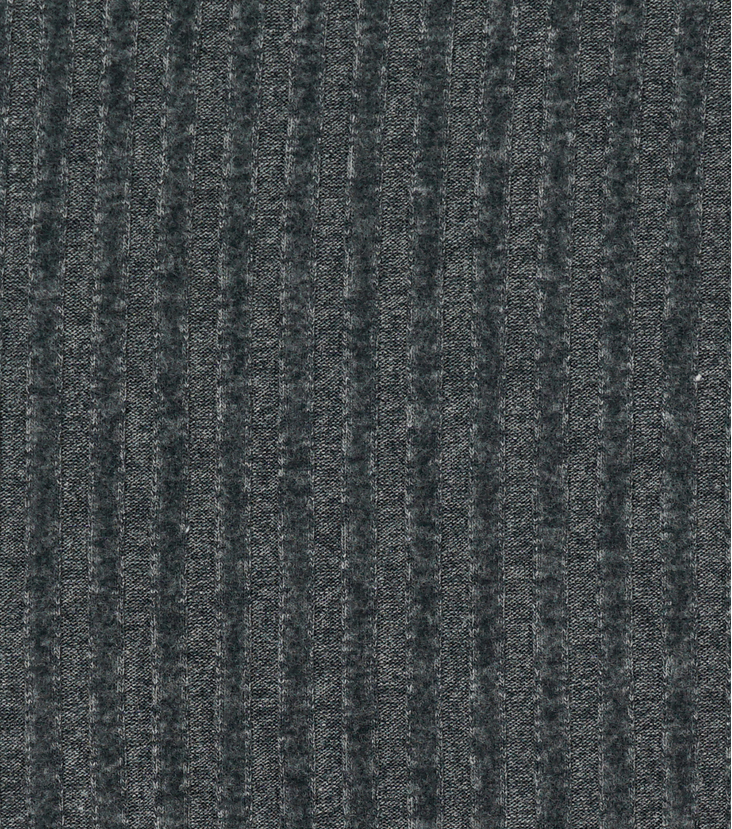 Varsity Club Ribbed Knit Fabric 57\u0022-Grey