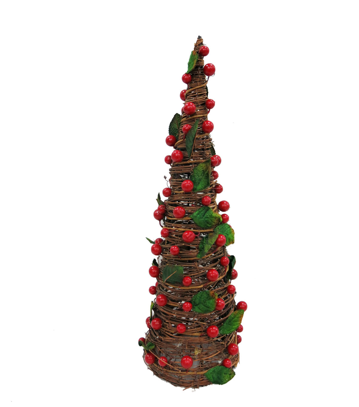 Maker\u0027s Holiday Large Natural Berry Cone Tree