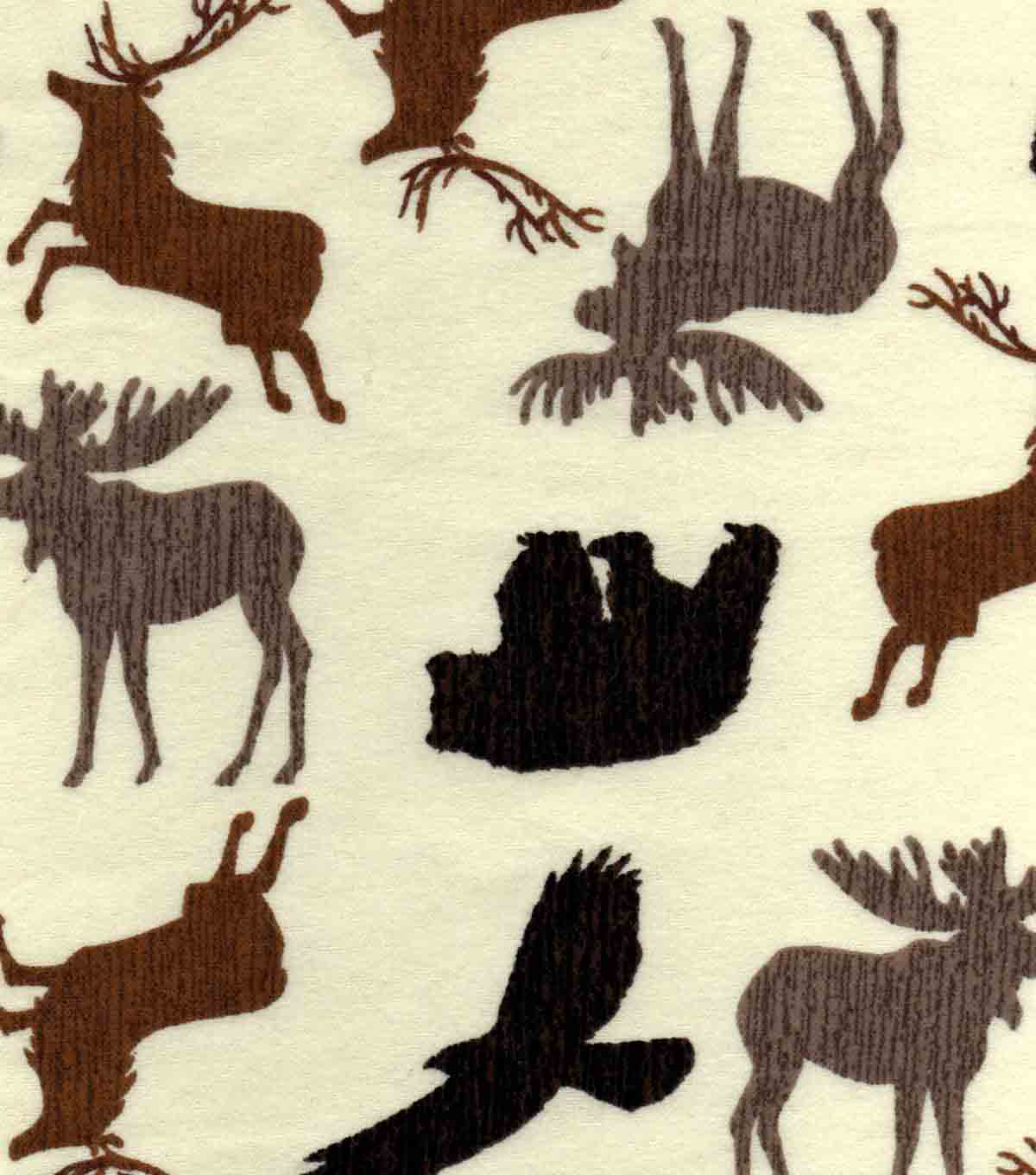 "Snuggle Flannel Fabric 42""-Wildnerness Animals"