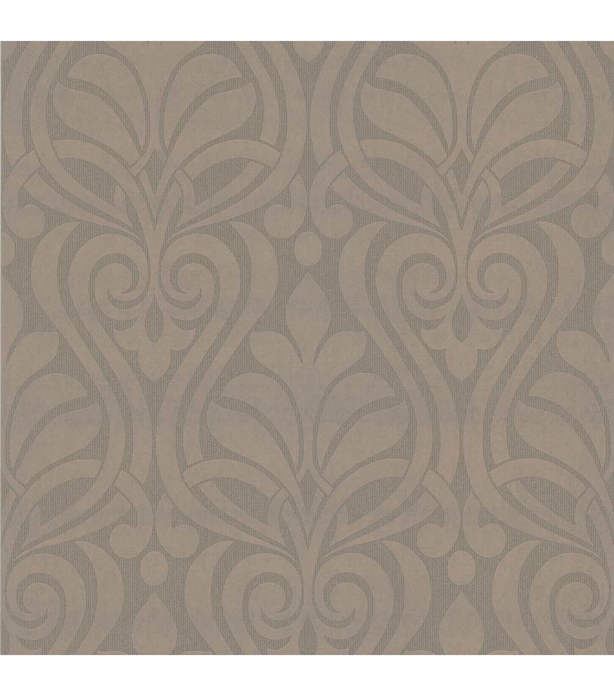 Amiya Brown New Damask  Wallpaper Sample