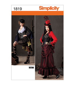 Simplicity Patterns 1819-Misses' Steampunk Costume