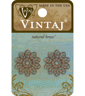 Vintaj 21Mm Filigree Flower