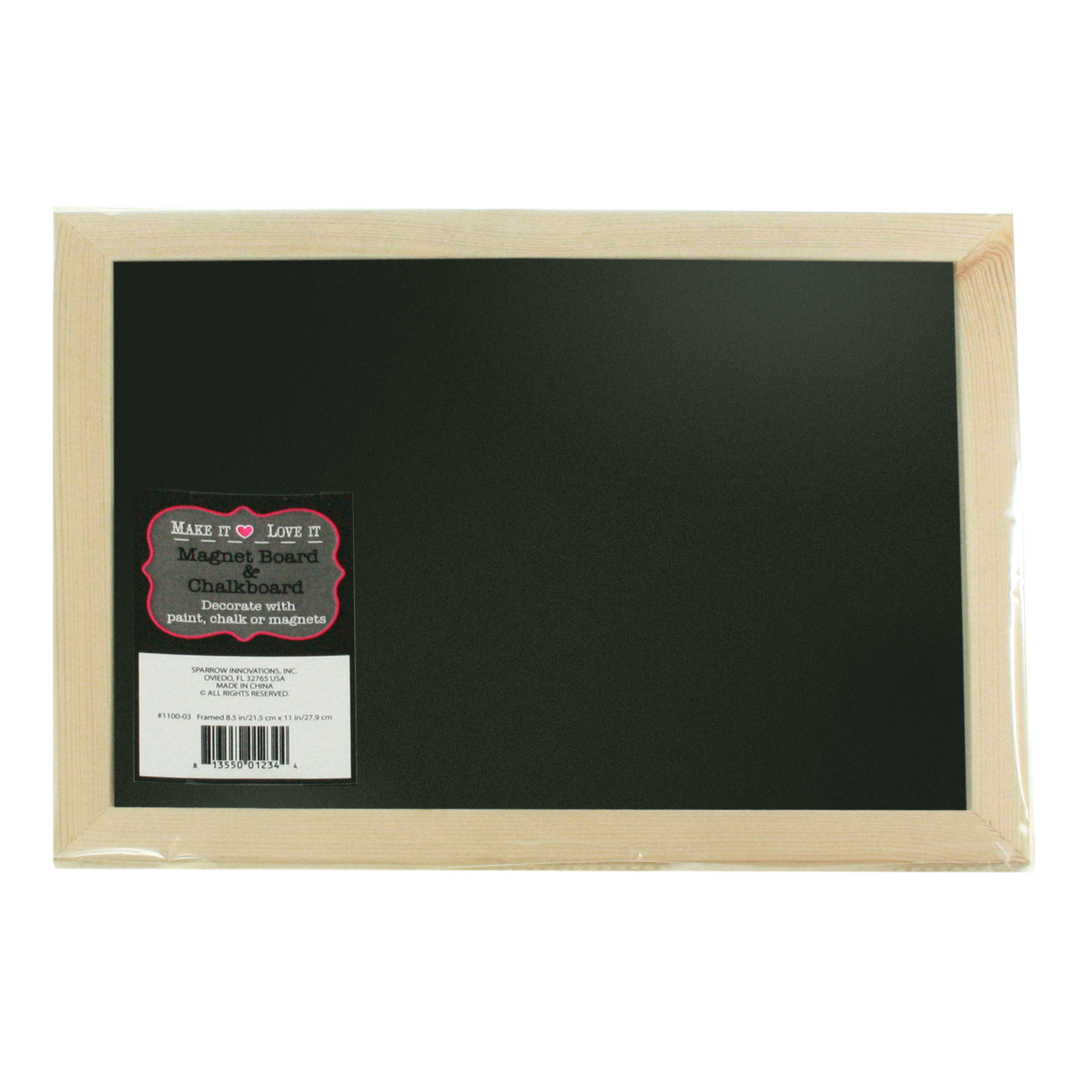 Make It Love It 8.5\u0022x11\u0022 Magnet Board &Chalkboard