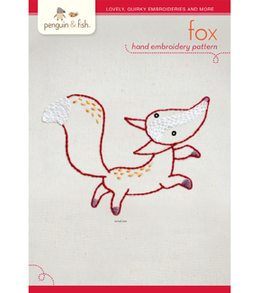 Penguin & Fish Hand Embroidery Pattern-Fox
