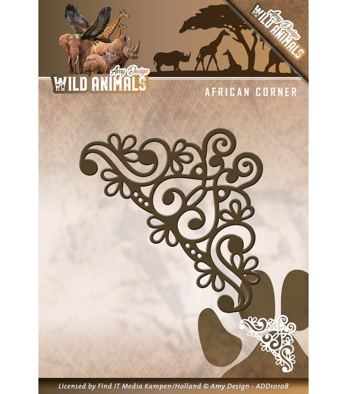 Find It Trading Amy Design Wild Animals Die-African Corner