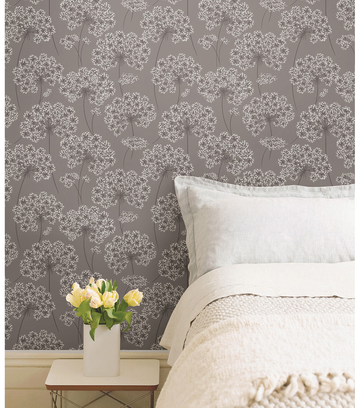 WallPops® NuWallpaper™ Grey Angelica  Peel  & Stick Wallpaper
