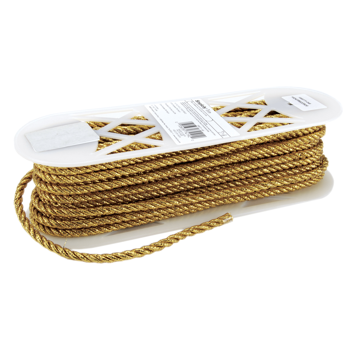 Large Metallic Twisted Cord 1/4\u0022 Wide 18 Yards-Gold