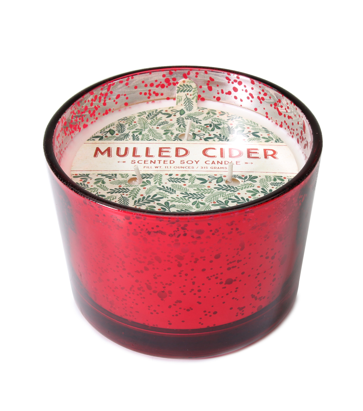 Maker\u0027s Holiday Christmas 3-wick Scented Mercury Candle-Mulled Cider