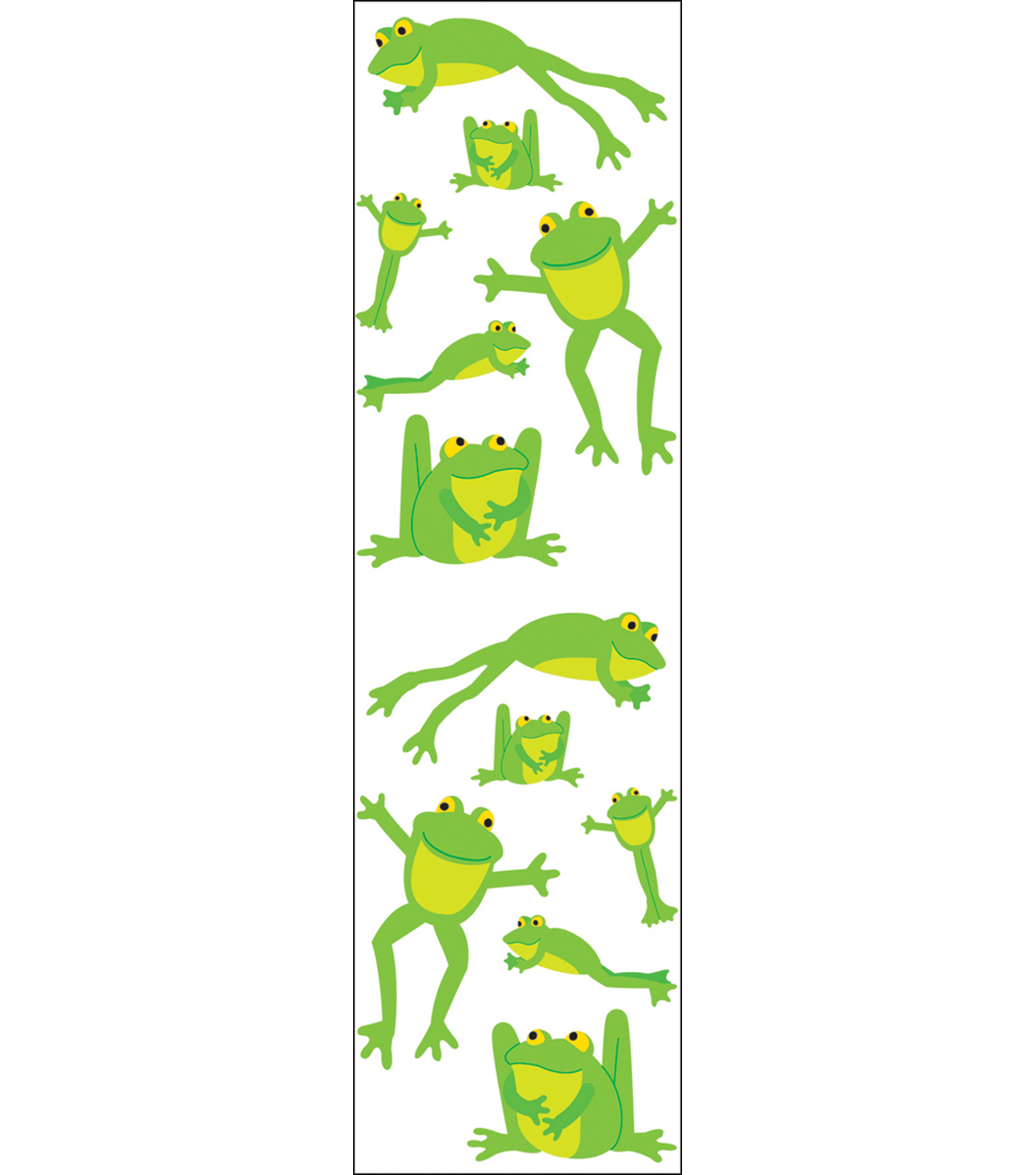 Mrs. Grossman's Stickers-Playful Frogs
