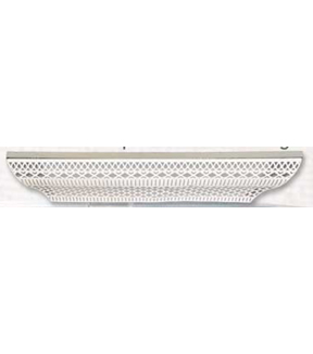 Perforated Wood and Metal Shelf 30x5.9\u0022 -White