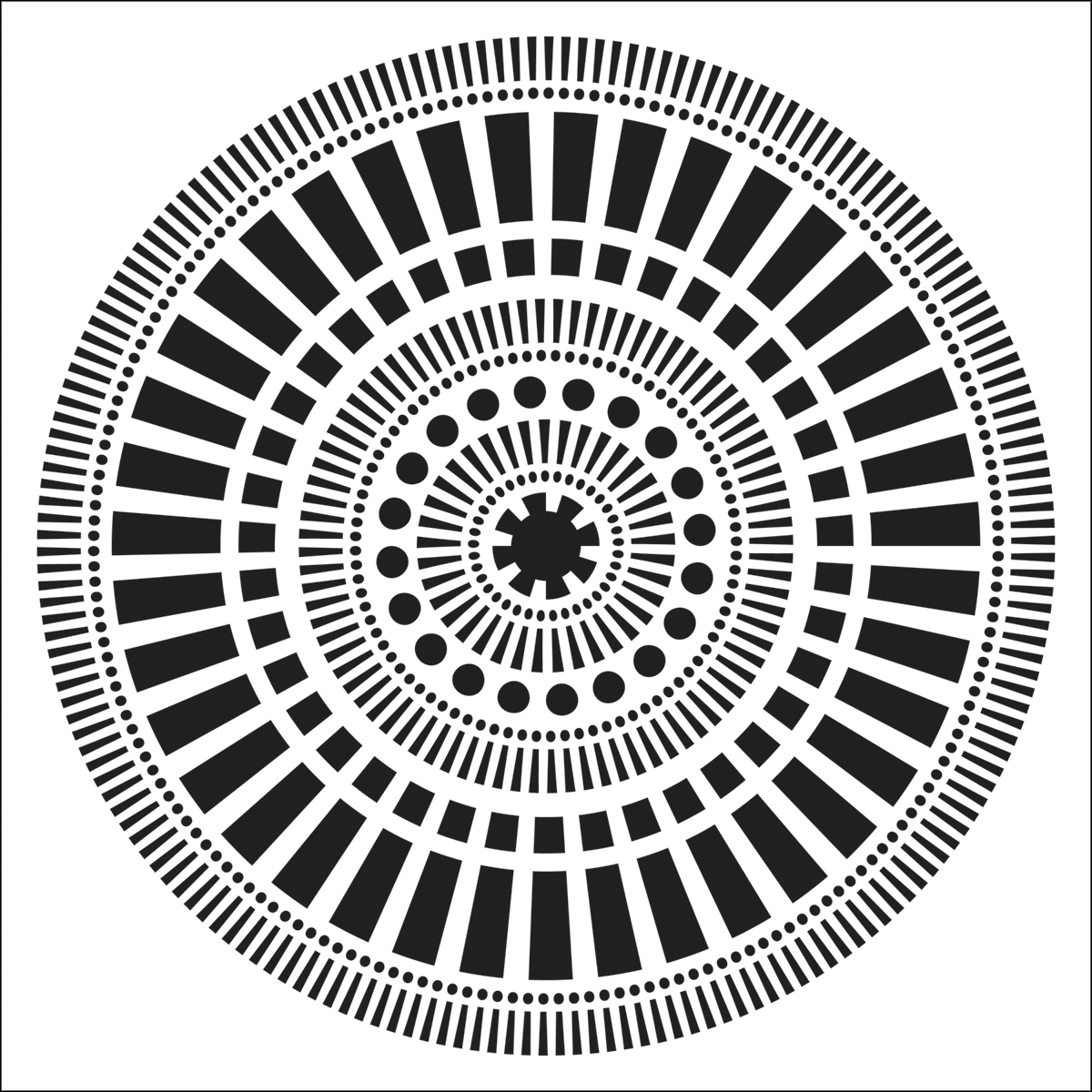 Crafter\u0027s Workshop Template Mayan Calendar 6\u0022 x 6\u0022