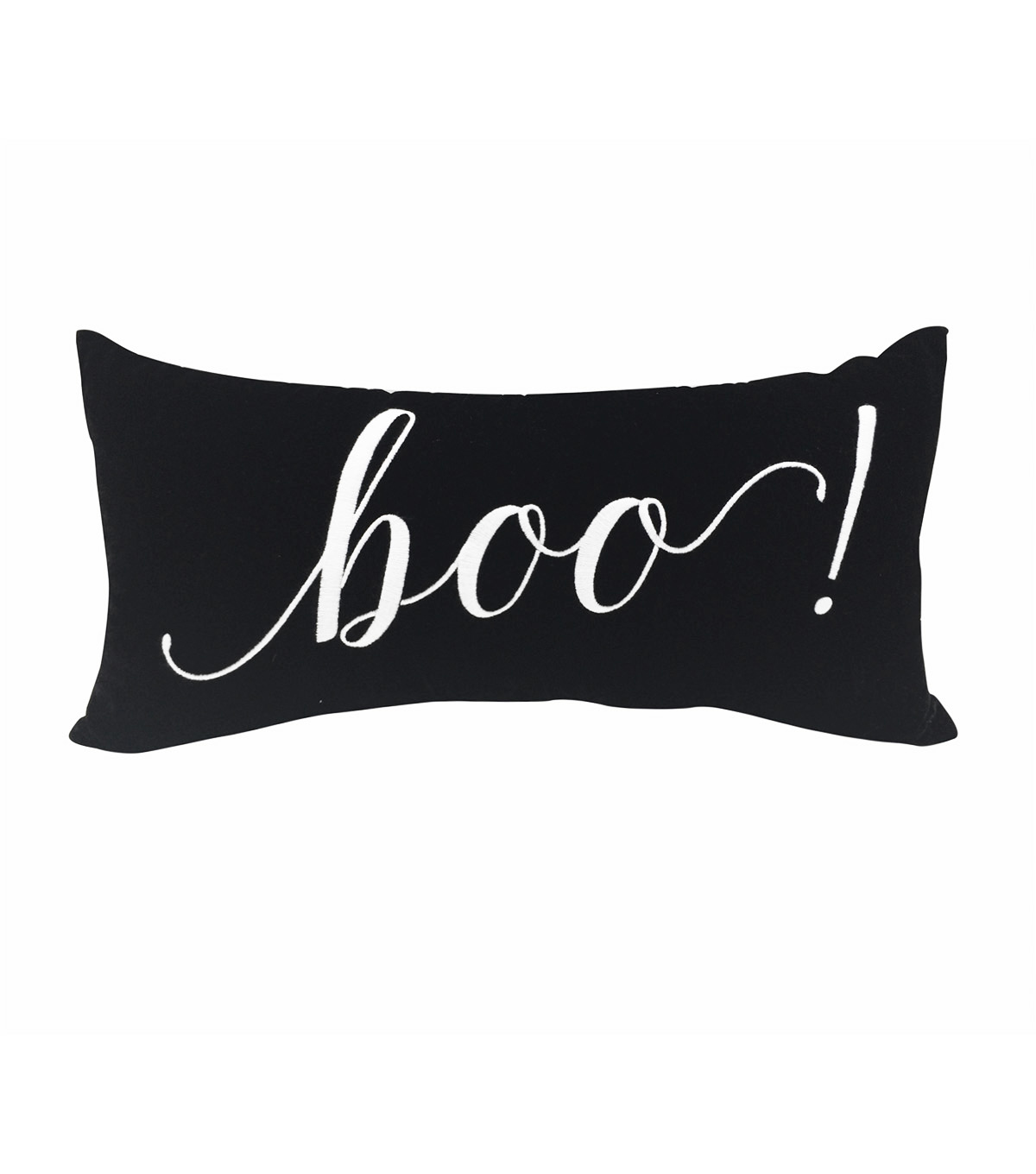 Maker\u0027s Halloween 9\u0027\u0027x18\u0027\u0027 Pillow-Boo on Black