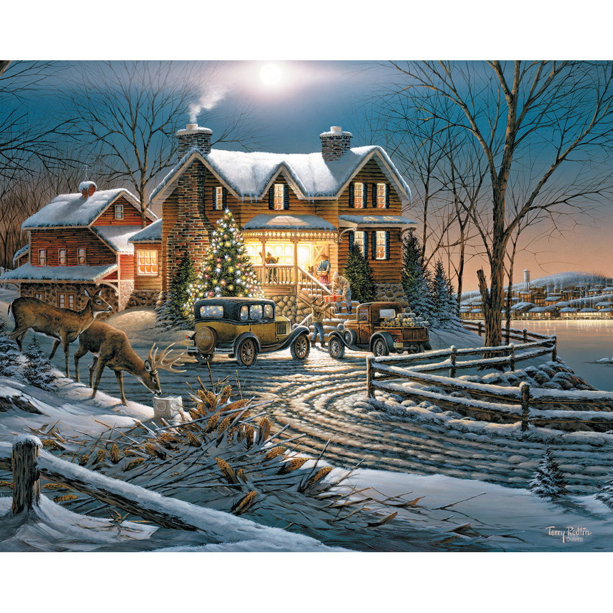 White Mountain Puzzles Jigsaw Puzzle Sharing The Bounty