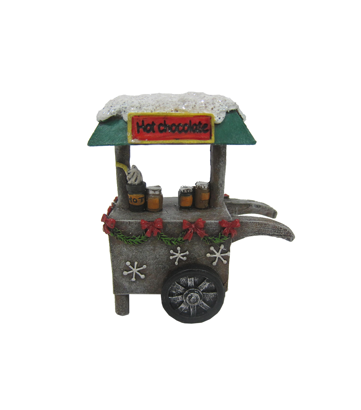 Maker's Holiday Christmas Littles Resin Cart-Hot Chocolate