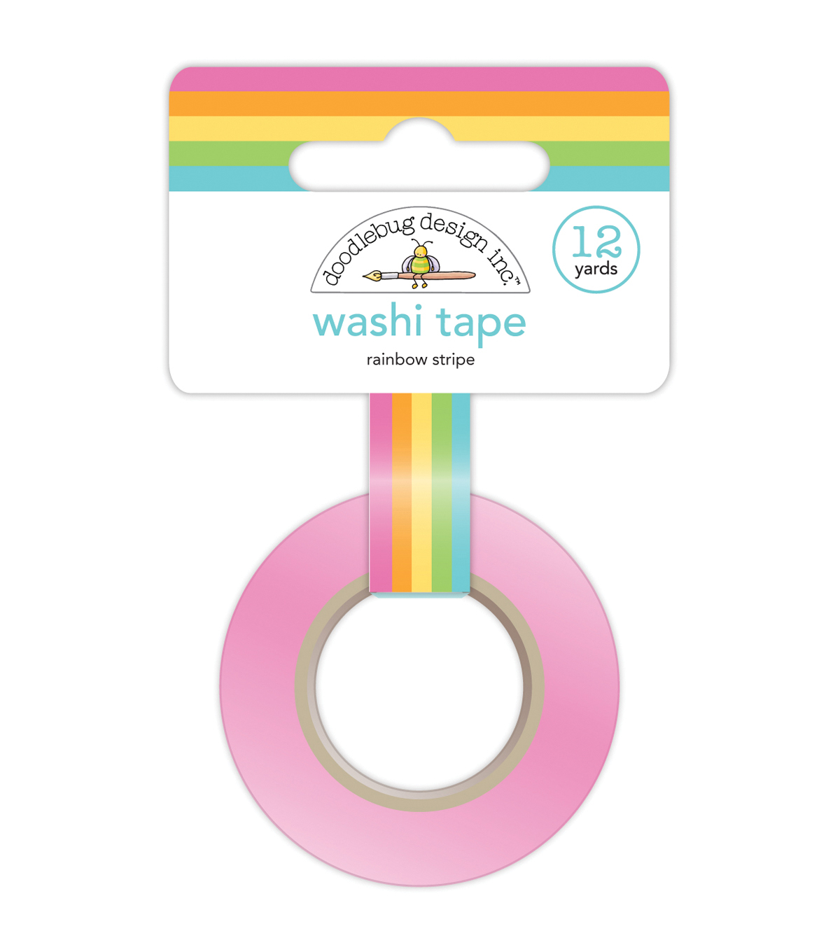 Rainbw Str-washi Tape 15mm 12yd