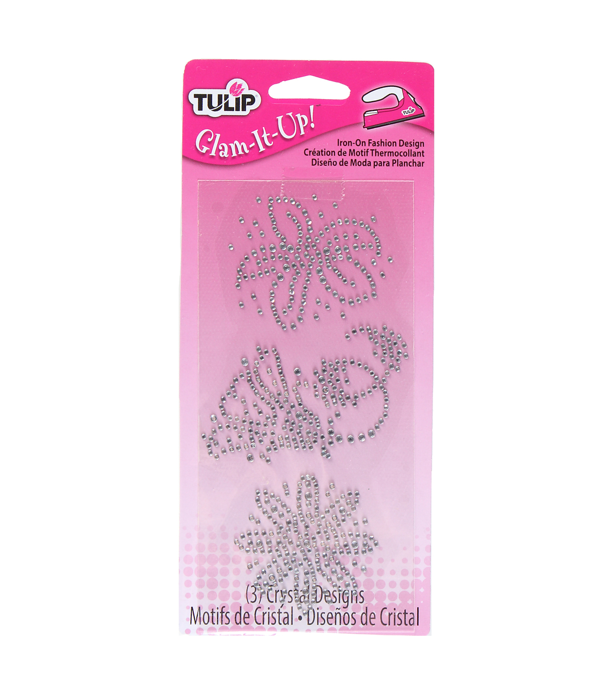 Tulip Glam-It-Up! Iron-On Fashion Design Multi-Pack Flower