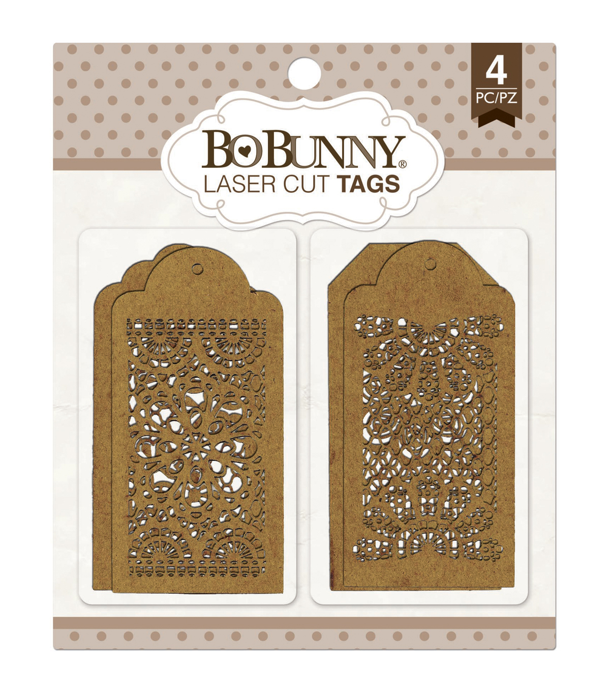 Bo Bunny Laser-Cut Lace Tags Chipboard