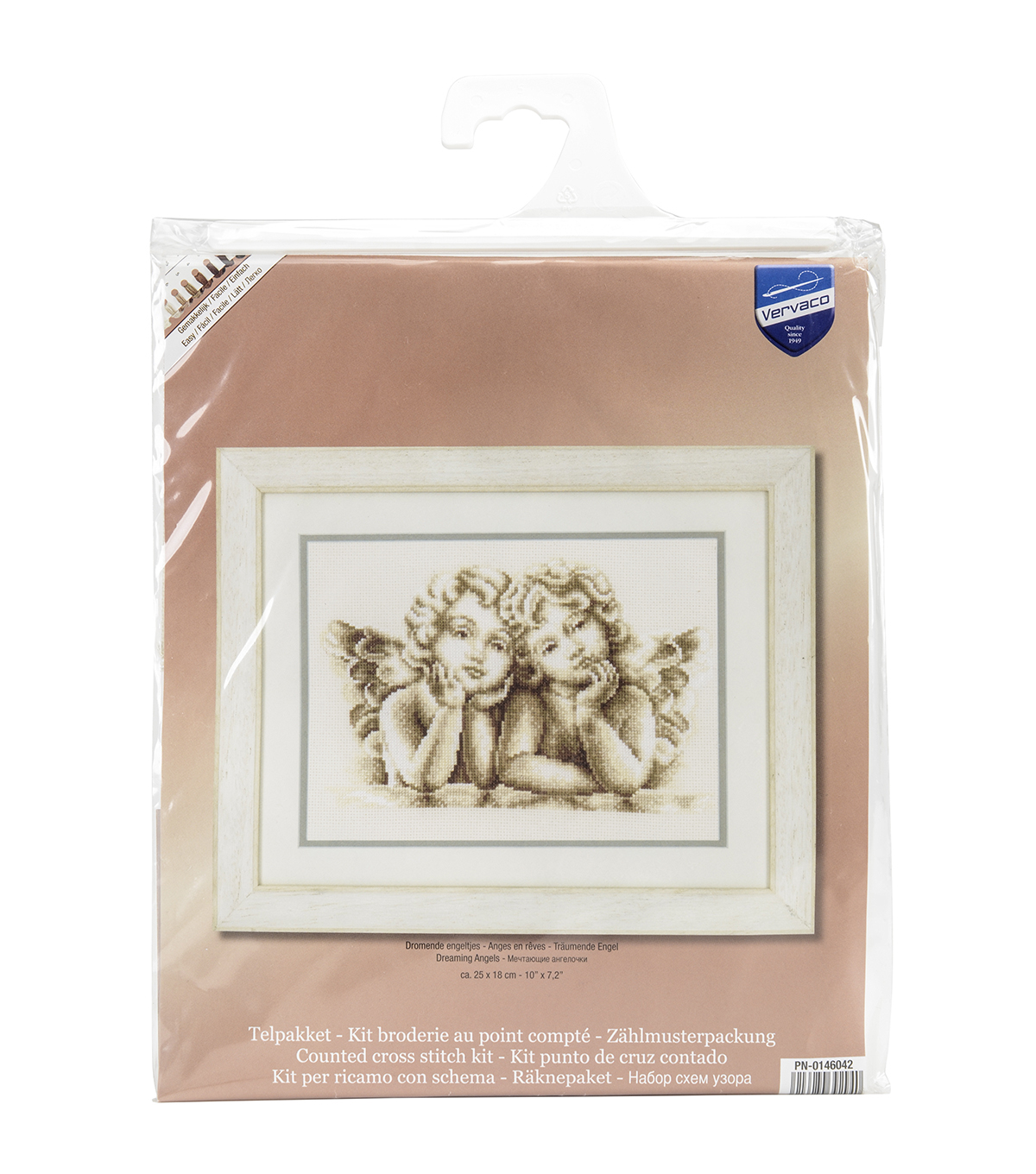 Vervaco On Aida Counted Cross Stitch Kit-Dreaming Angels