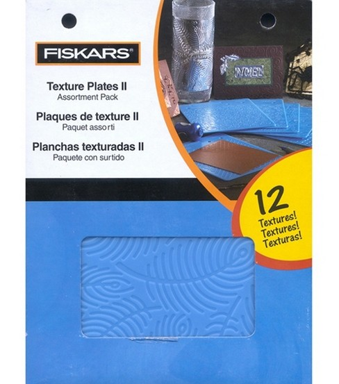 Fiskars® Texture Plate Assortment II-6/Pkg