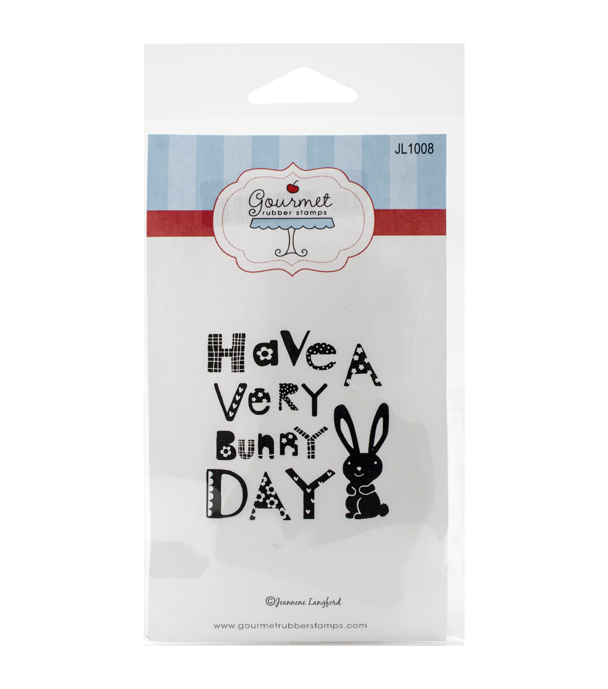 Gourmet Rubber Stamps Have A Very Bunny Day Cling Stamps