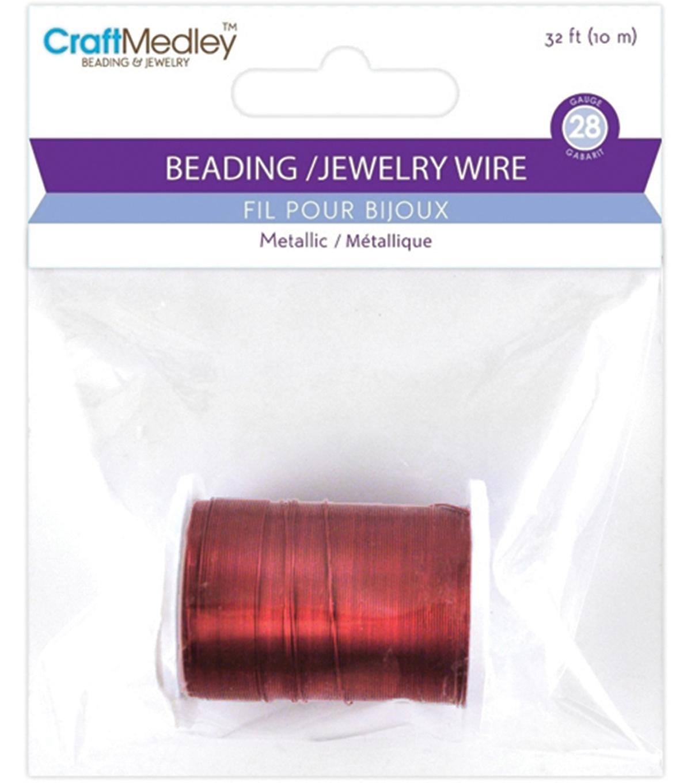 Metallic Beading & Jewelry Wire 28 Gauge 32\'/Pkg -Purple | JOANN