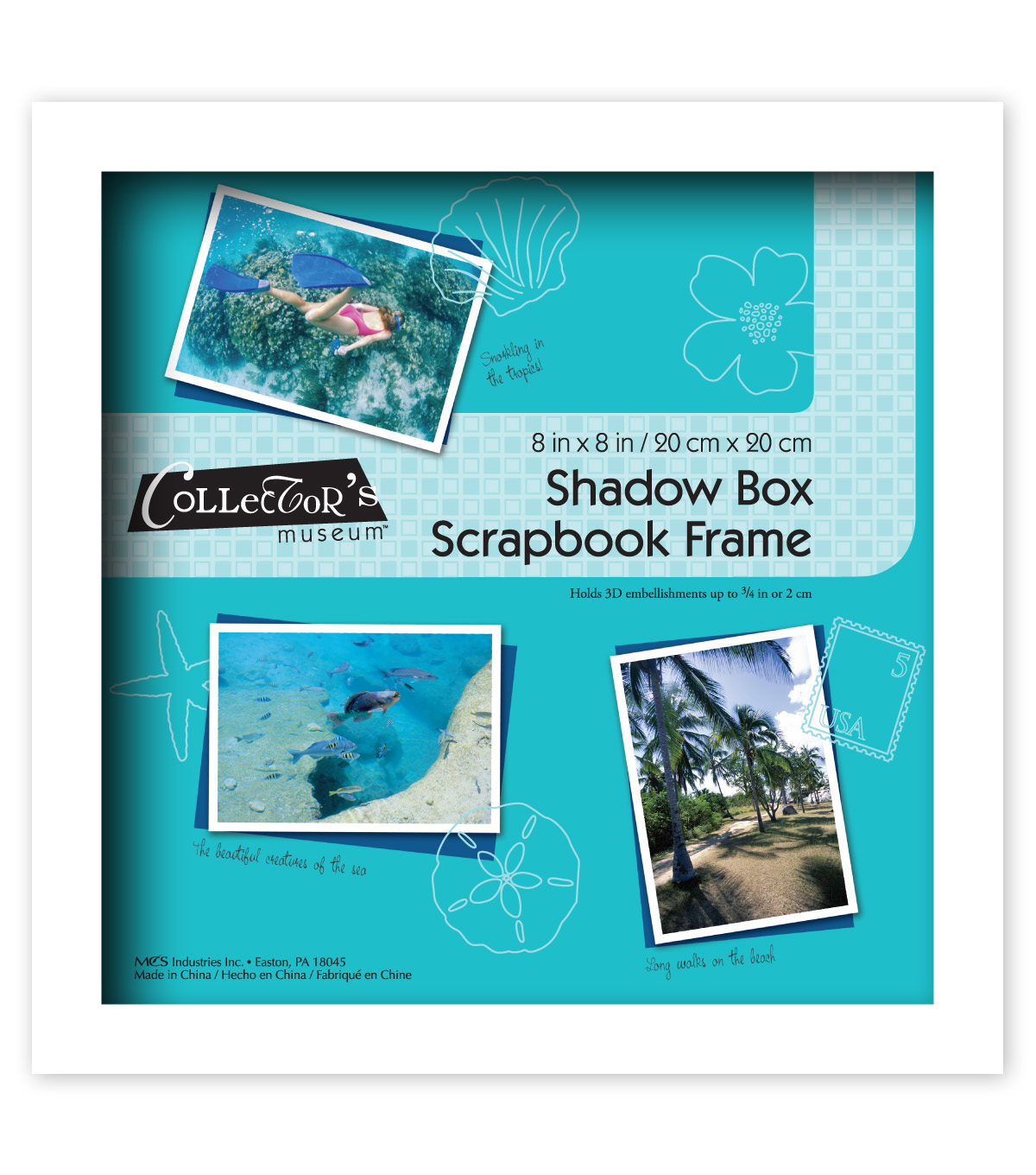 MCS Industries Collector\u0027s Museum Shadow Box Scrapbook Frame 8\u0027\u0027x8\u0027\u0027
